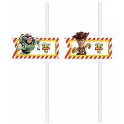 Pailles carton x 4 Toy Story™ Déco festive LTOY90875