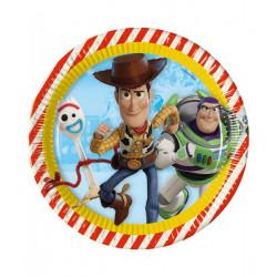 Assiettes carton x 8 Toy Story 4™ 23 cm Déco festive LTOY90870