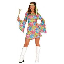 Déguisement hippie colorée femme taille S-M Déguisements 80638GUIRCA