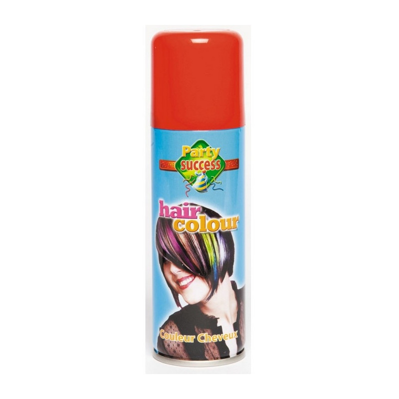Bombe cheveux rouges 125 ml Accessoires de fête 102355