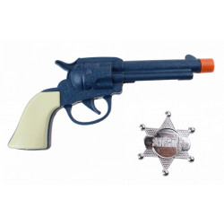 Pistolet cowboy et étoile de shérif - bleu Jouets kermesse pour les garçons 2010