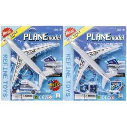 Panoplie avion de ligne rétro-friction avec accessoires Jouets et articles kermesse 3267