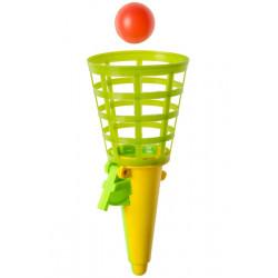 Jeu 2 lance-balles vert-orange 19 cm Jouets et articles kermesse 6419