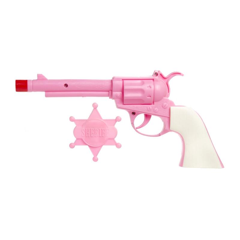 Pistolet cowboy avec étoile shérif - rose Jouets et articles kermesse 2959