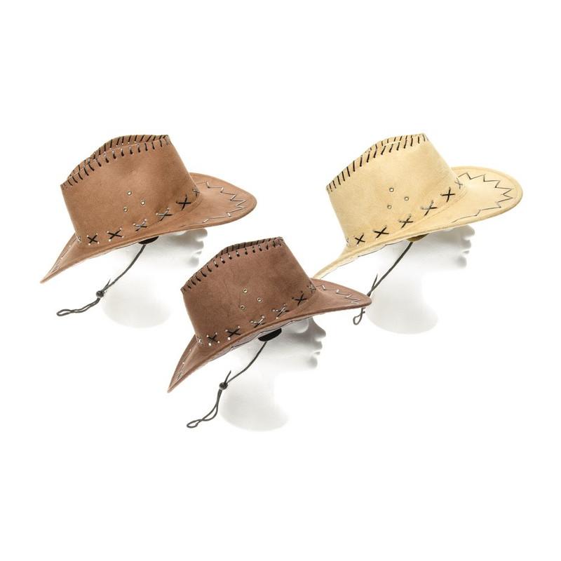 Chapeau cow-boy simili cuir Accessoires de fête 9099