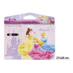 Bloc notes Princesse avec crayons de couleur Jouets et articles kermesse 2050176