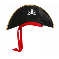 Chapeau pirate enfant avec ruban rouge Accessoires de fête 9088