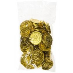 Sachet 100 pièces d'or chasse au trésor pirate Jouets et articles kermesse 2798
