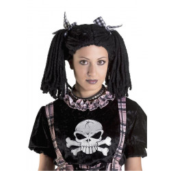 Perruque gothique noire Accessoires de fête 71538