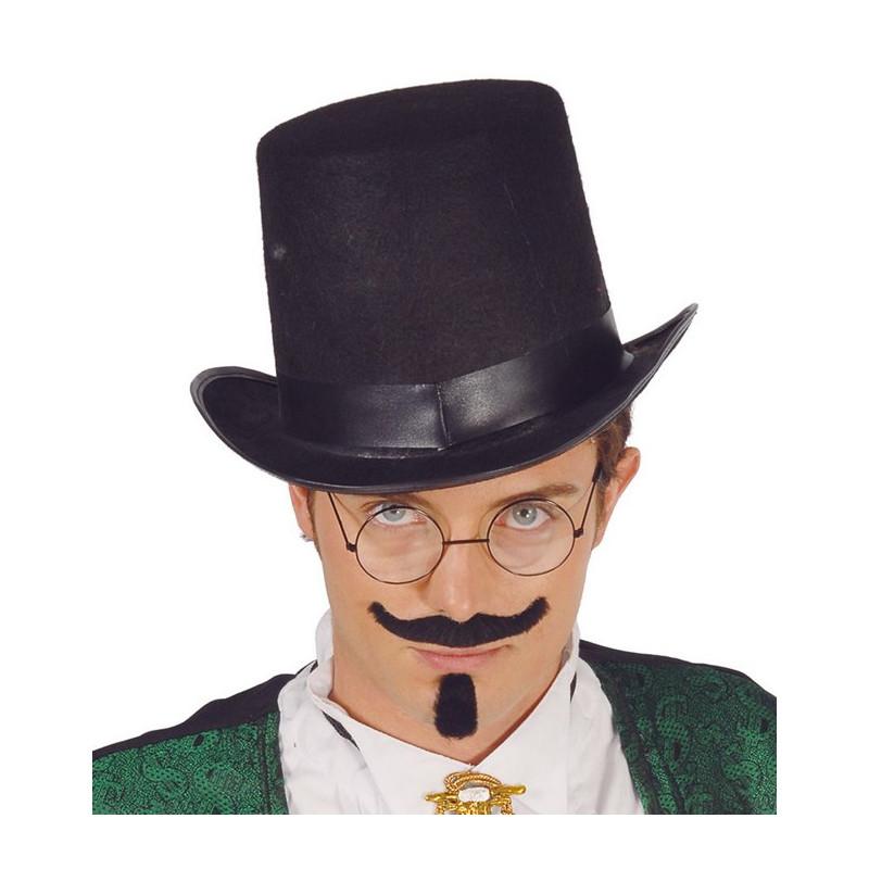 Chapeau haut de forme noir adulte Accessoires de fête 13504
