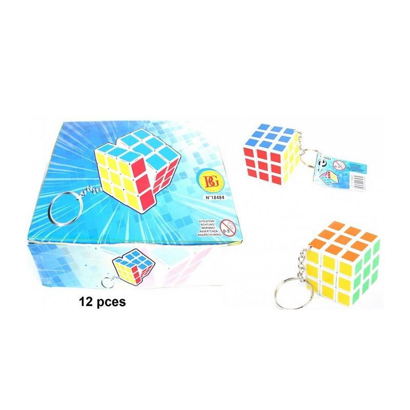 Porte clés jeu patience cube 3,5 cm vendu par 12 Jouets et articles kermesse 18484-LOT