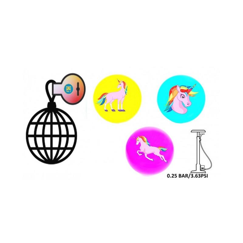 Ballon gonflable PVC licorne 23 cm Jouets et articles kermesse 21859