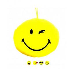Peluche coussin jaune bonhomme sourire 8 cm Jouets et articles kermesse 89736-LOT