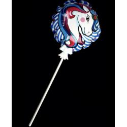 Ballon auto gonflant licorne avec bâton vendu par 48 Jouets et articles kermesse 62005-LOT