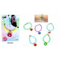 Bracelet silicone avec pendentif 6 assortiments vendu par 48 Jouets et articles kermesse 32909-LOT