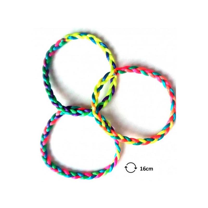 Bracelet brésilien fluo 21 cm kermesse vendu par 48 Jouets et articles kermesse 32589-LOT