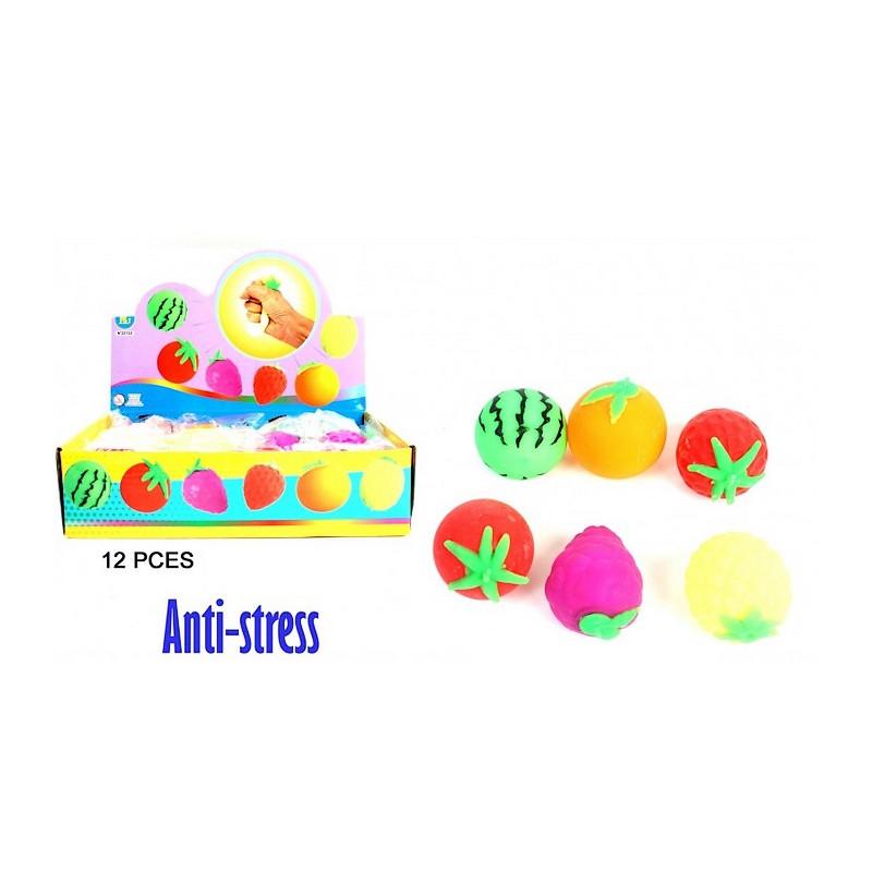Balle anti-stress fruit 6.5 cm vendue par 12 Jouets et articles kermesse 22153-LOT