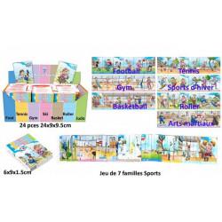 Jeu cartes 7 familles sports vendu par 24 Jouets et kermesse 25123-LOT