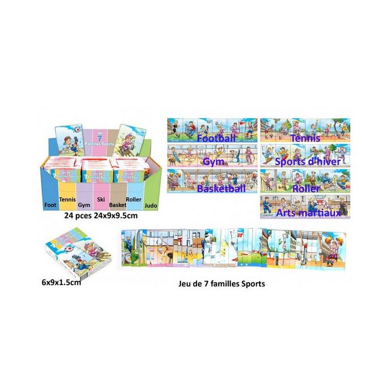 Jeu cartes 7 familles sports vendu par 24 Jouets et articles kermesse 25123-LOT