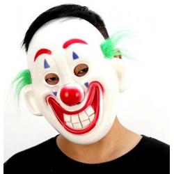 Masque bouffon rouge et Blanc Accessoires de fête 39931