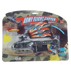 Hélicoptère armée 23 cm avec lanceur Jouets et articles kermesse 13421