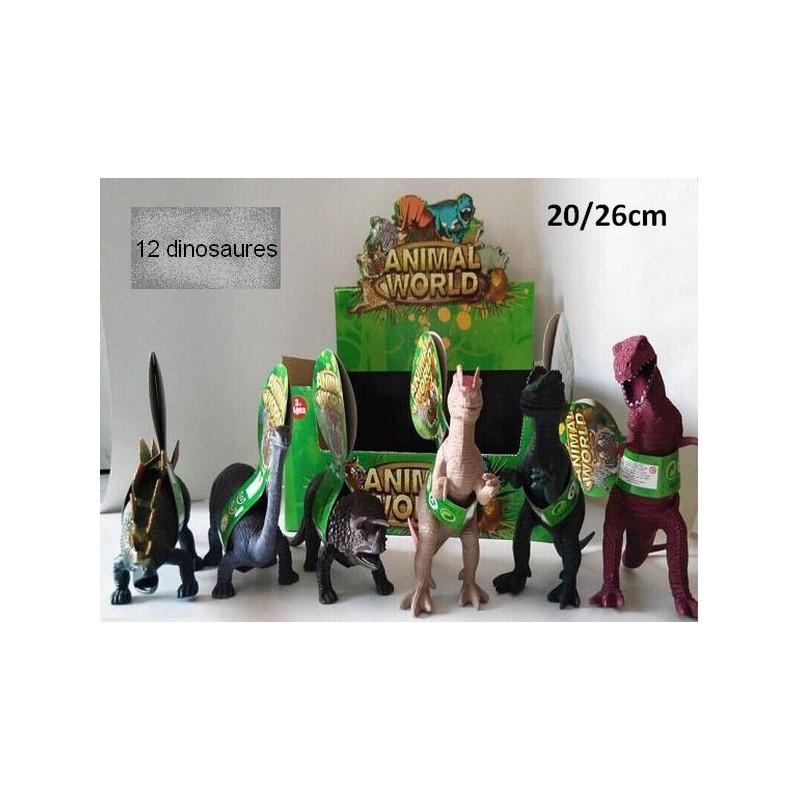 Dinosaure plastique 20 cm vendu par 12 Jouets et articles kermesse 42056-LOT
