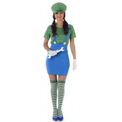 Déguisement plombier vert femme taille S Déguisements 81003S-149025