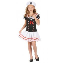 Déguisement marin noir et blanc fille 7-9 ans Déguisements 68997
