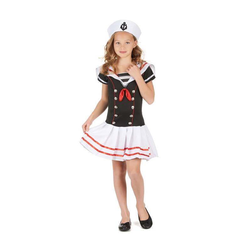 Déguisement marin noir et blanc fille 4-6 ans Déguisements 68996