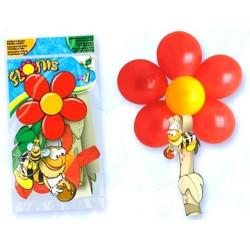Ballons baudruche ronds fleur x 8 + tige Déco festive 1011