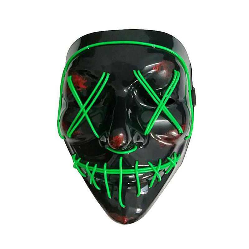 Masque led lumineux vert adulte Accessoires de fête 294585