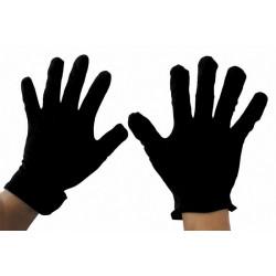 Gants courts noirs en coton Accessoires de fête 865301
