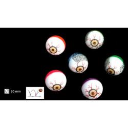 Balle oeil super rebondissante 3 cm vendue par 48 Jouets et articles kermesse 3308BG