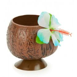Verre hawaï noix de coco Déco festive 6202