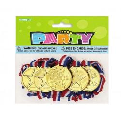 Médailles d'or par 5 avec colliers Déco festive 84771