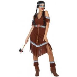 Déguisement indienne marron femme taille XS-S Déguisements 54072
