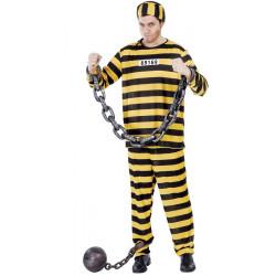 Déguisement prisonnier western jaune à rayures L-XL Déguisements 80420