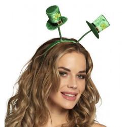 Serre-tête chapeaux haut de forme verts St Patrick Accessoires de fête 44921