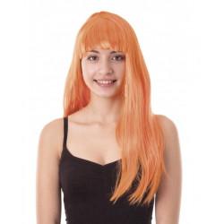 Perruque Lola longue néon orange Accessoires de fête 86286PP