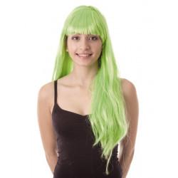 Perruque Lola longue néon vert Accessoires de fête 86287