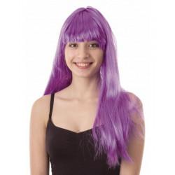 Perruque Lola longue néon violet Accessoires de fête 86288