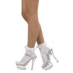 Chaussettes blanches avec dentelle femme Accessoires de fête 87851
