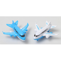 Avion de ligne en plastique 8.5 cm vendu par 24 Jouets et articles kermesse 8152-LOT