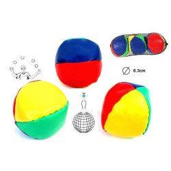Balles à jongler diamètre 6.3 cm Jouets et kermesse 21569