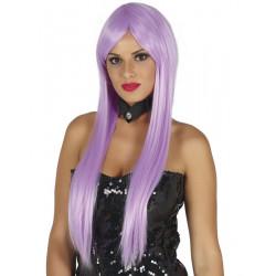 Perruque longue Lisa lilas Accessoires de fête 4118