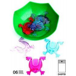 Jeu de grenouille nénuphar sauteuse vendu par 48 Jouets et articles kermesse 21828-LOT