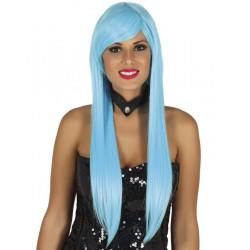 Perruque longue Lisa bleu ciel Accessoires de fête 4119