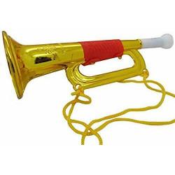 Trompette dorée 18.5 cm kermesse vendue par 24 Jouets et articles kermesse 8136-LOT
