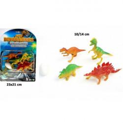 Set 4 animaux dinosaure avec oeuf Jouets et articles kermesse 10372