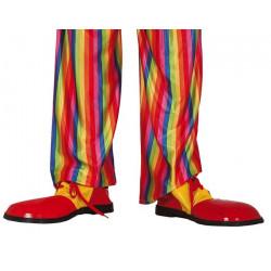 Chaussures clown rouge et jaune adulte Accessoires de fête 2213